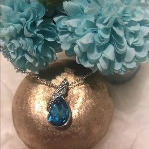 Blue diamond Pendant Necklace